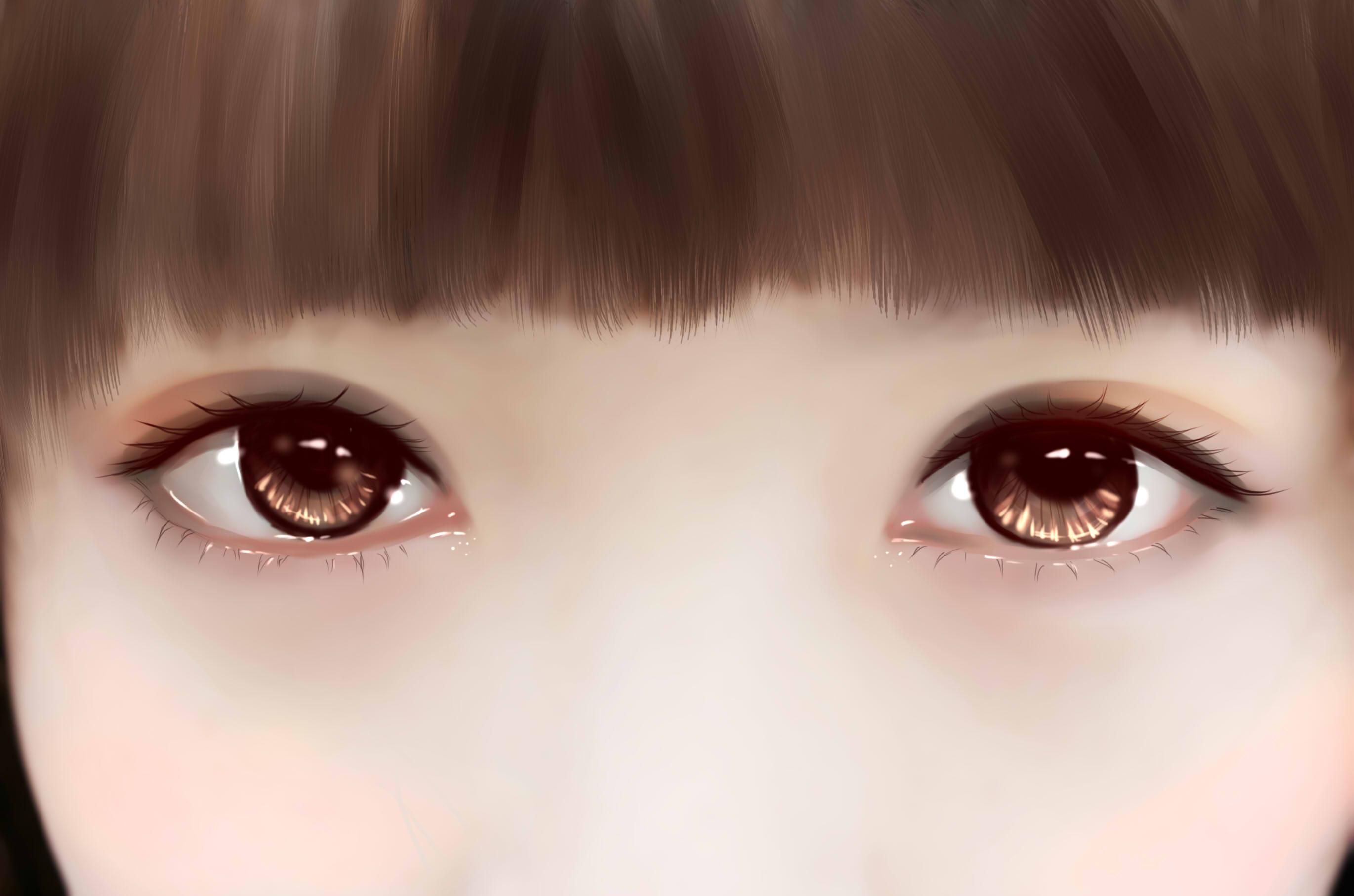 手绘眼睛练习
