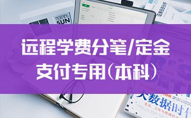 远程学费分笔/定金支付专用(本科)