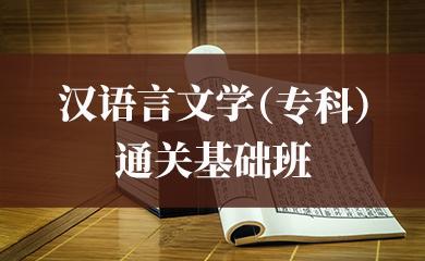 汉语言文学(专科)通关基础班