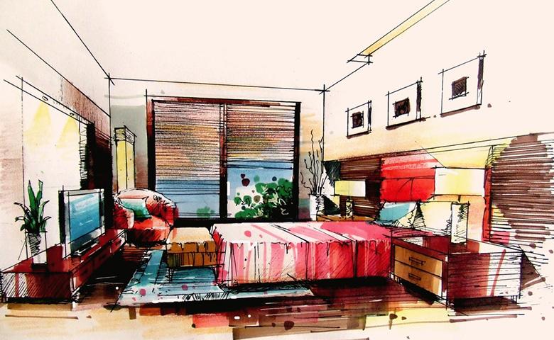 视频课时          通过设计手绘基础入门,家具单体及组合,家居空间