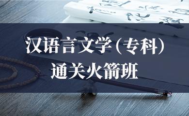 汉语言文学(专科)通关火箭班