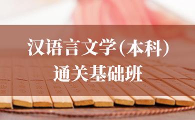 汉语言文学(本科)通关基础班