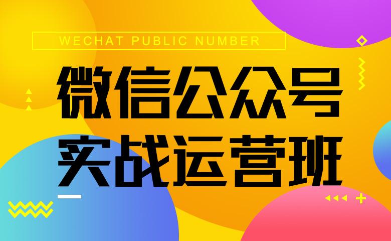微信公众号实战运营班(录播)