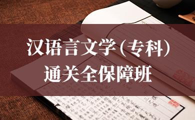 汉语言文学(专科)通关全保障班
